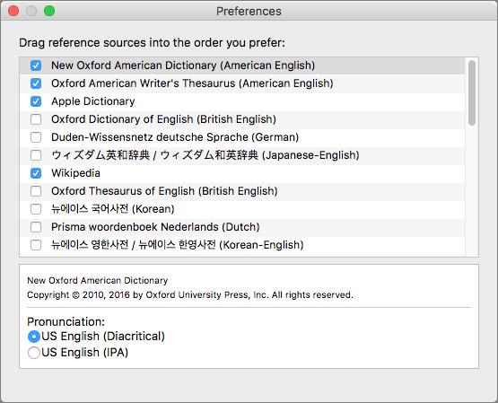 Dictionary-prefs