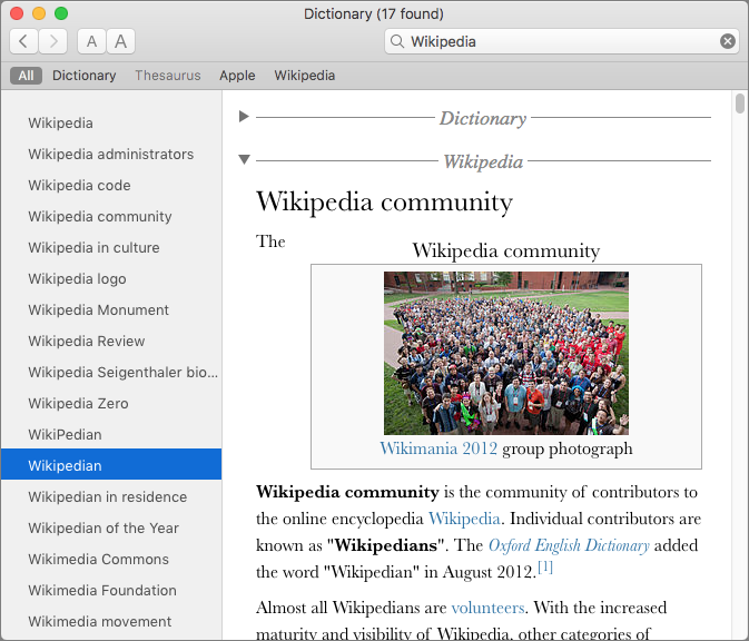 Dictionary-Wikipedia