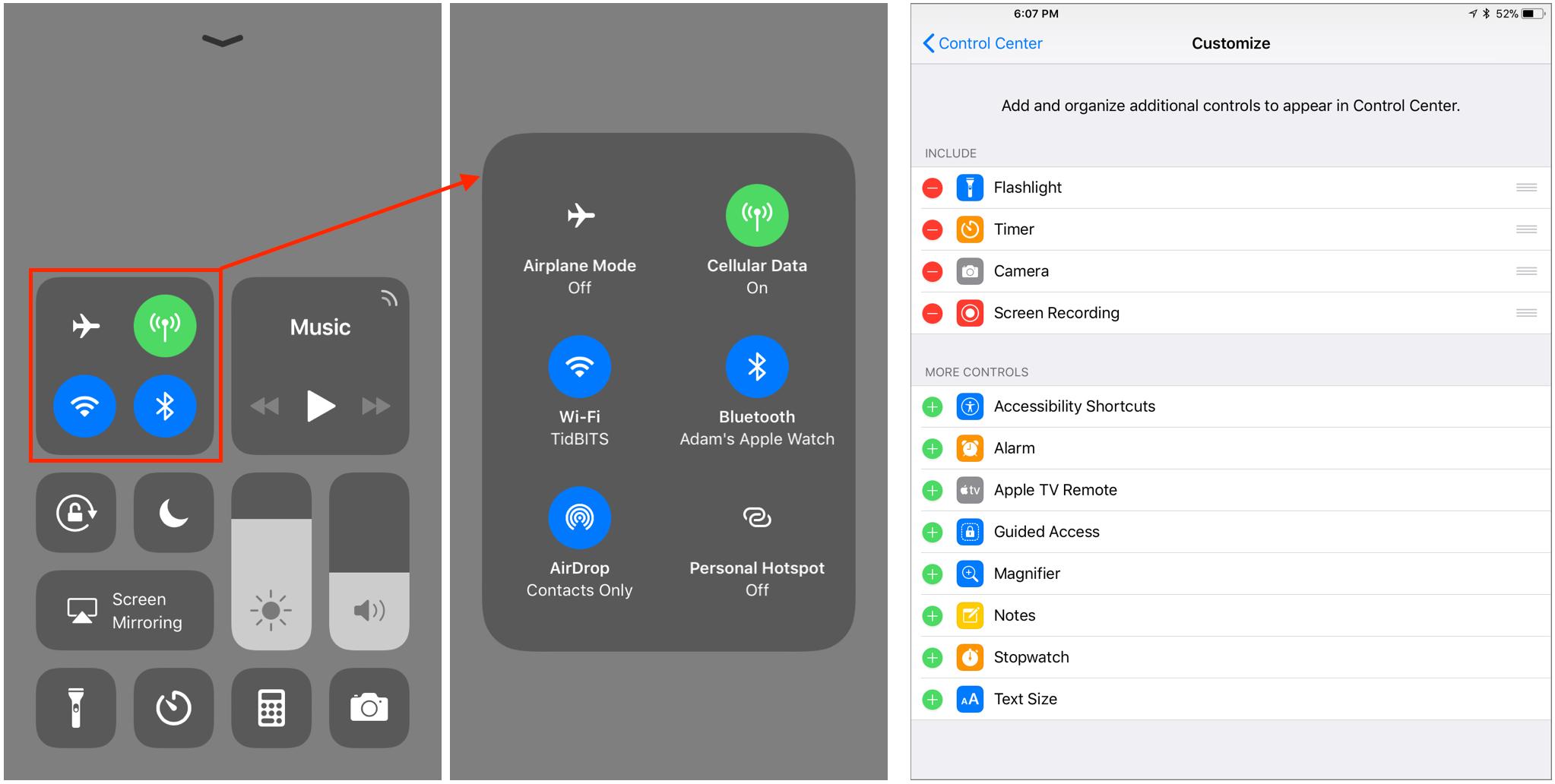iOS11-Control-Center
