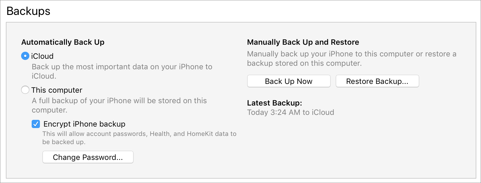 iTunes-Backups-section