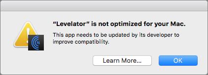 64-bit-app-Levelator-warning