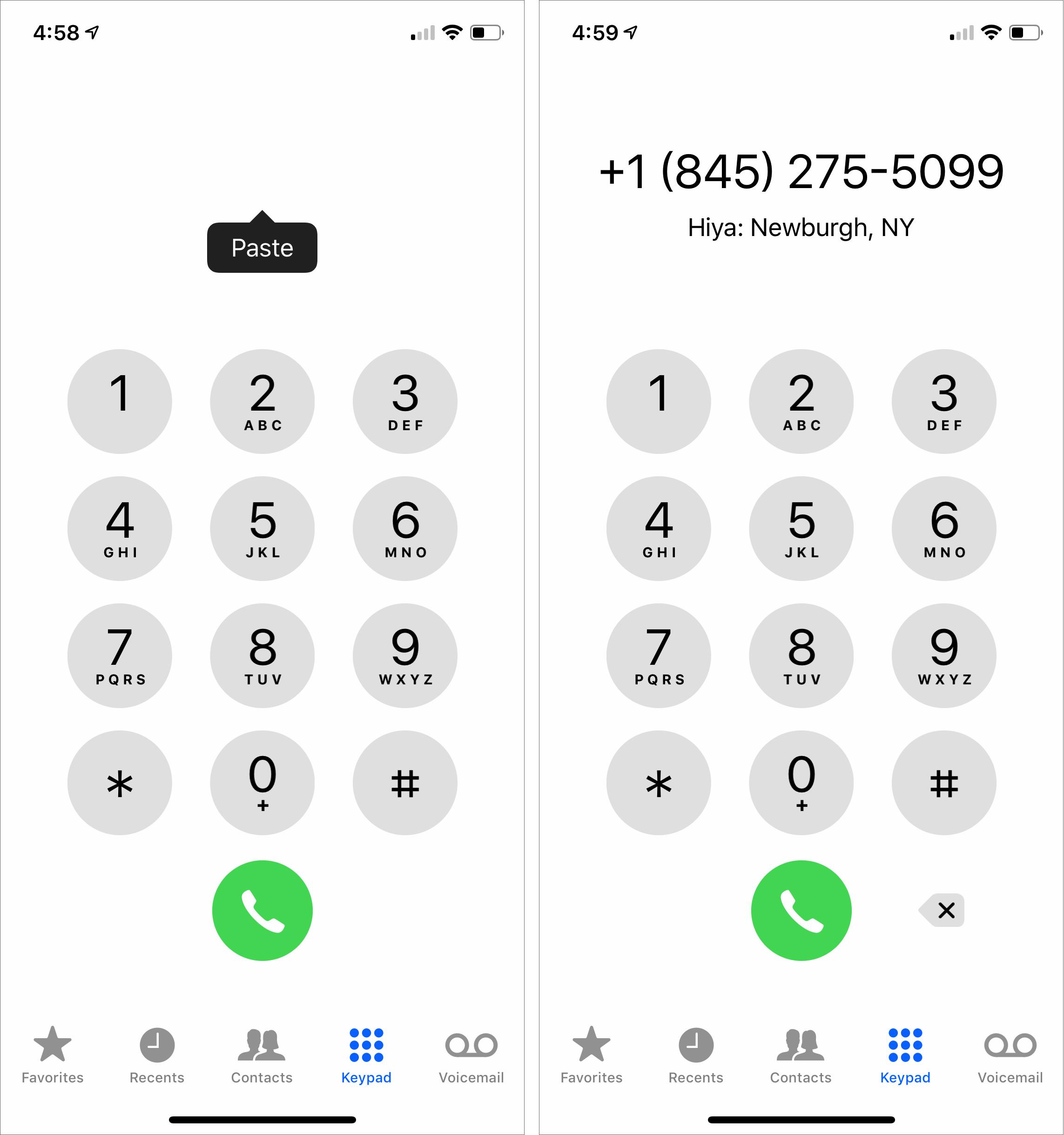 Paste-phone-numbers